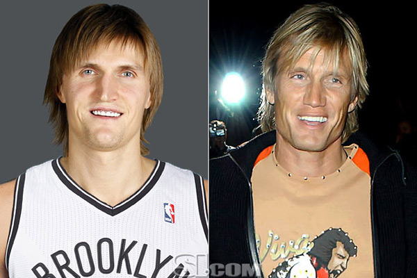 Andrei Kirilenko and                              Dolph Lundgren :: Getty Images