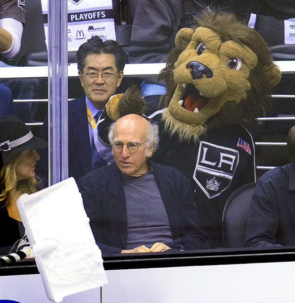 Larry David,                      Los Angeles Kings vs. San Jose Sharks :: Getty Images