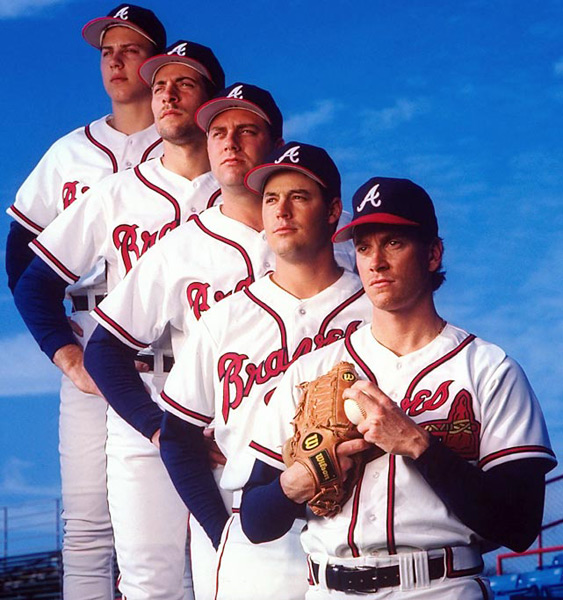 Steve Avery, John Smoltz, Pete Smith, Greg Maddux, Tom Glavine :: Ronald C. Modra/SI