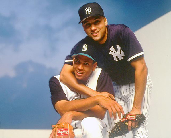 Alex Rodriguez and Derek Jeter :: Walter Iooss Jr./SI