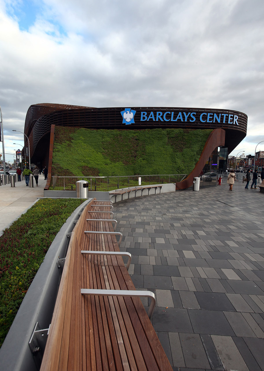 The area surrounding Barclays Center in Brooklyn.