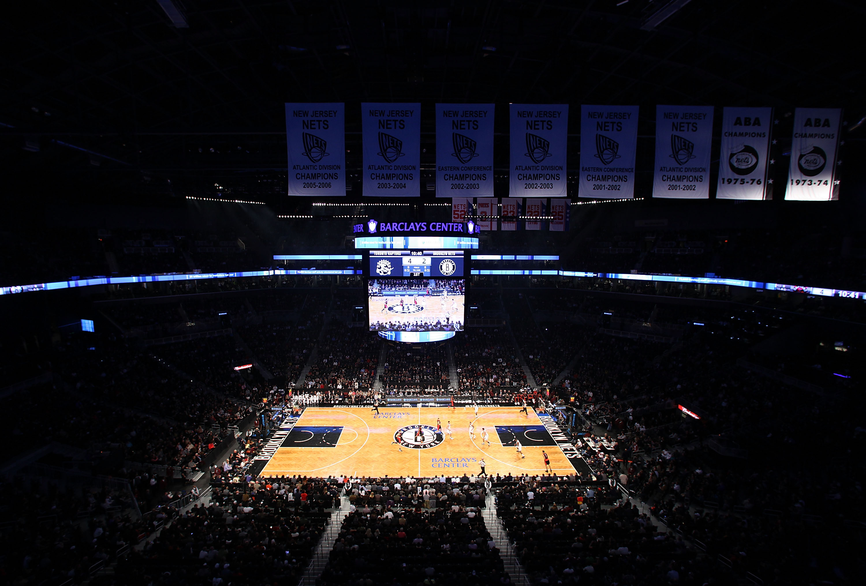 The interior of Barclays Center.