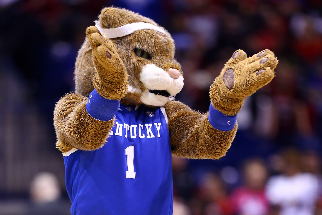The mascot of the Kentucky Wildcats (photo via Getty Images)