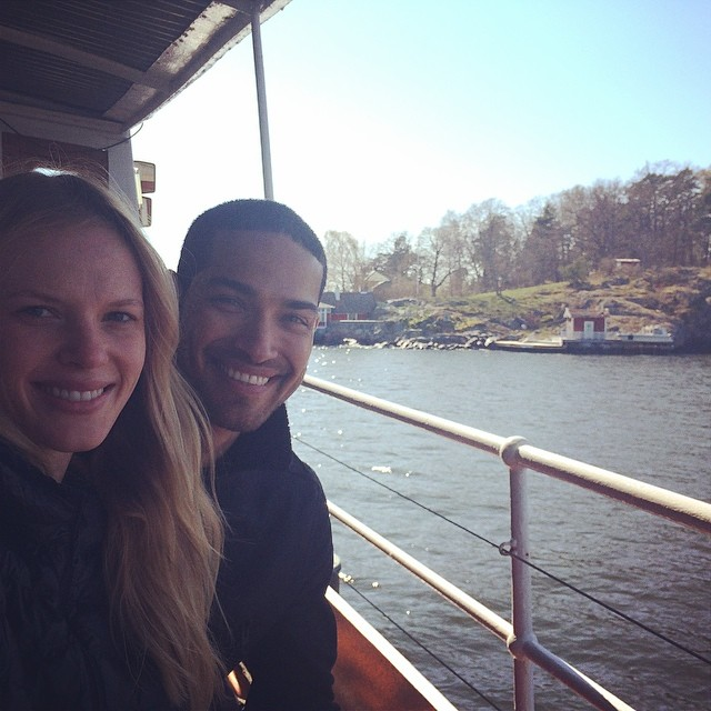 @annev_official: Most beautiful day boating with @danielpimentel_ in Stockholm ️