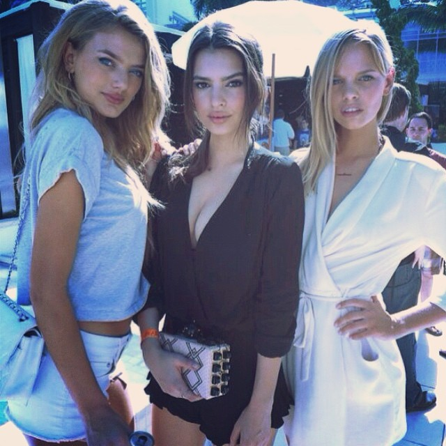 @emrata Throwback to @si_swimsuit with these two beauties