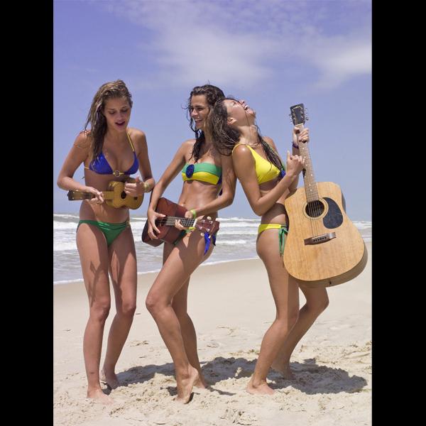 With Ana Beatriz Barros (L) and Fernanda Motta (C), Brazil, 2007 ::  J.R. Duran/SI