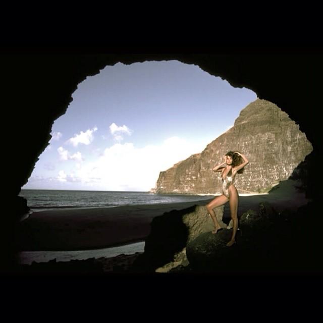 @walteriooss Carol Alt, Honapu Beach, Kauai.