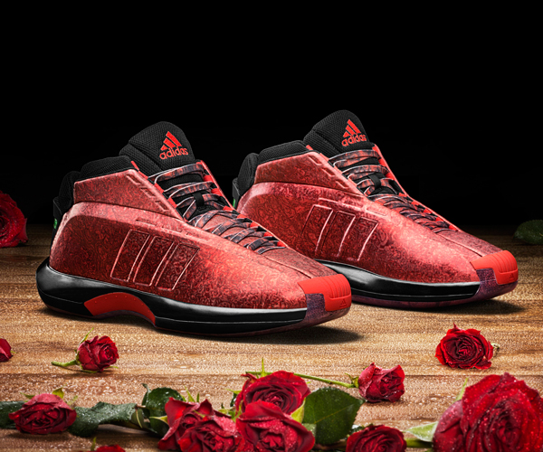 "Damian Lillard's ""Rose City Crazy 1"" sneakers by Adidas.  (Adidas)"