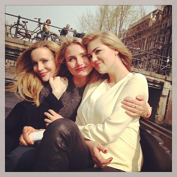 @kateupton: Day 1 #Amsterdam #TheOtherWoman @camerondiaz #LeslieMann