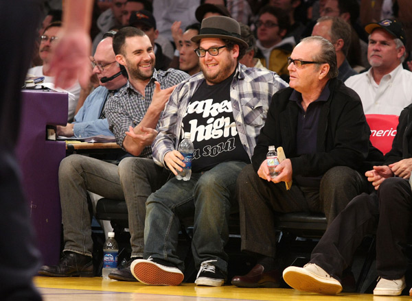 Adam Levine, Jonah Hill  and Jack Nicholson :: Getty Images