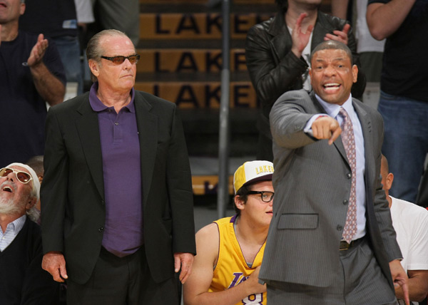 Jack Nicholson and Doc Rivers :: Getty Images