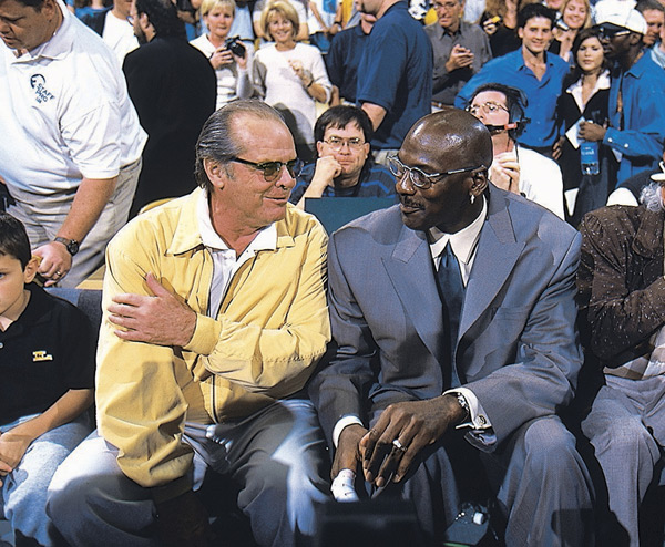 Jack Nicholson and Michael Jordan :: Getty Images