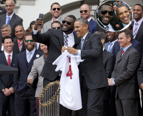 Barack Obama and David Ortiz :: AP