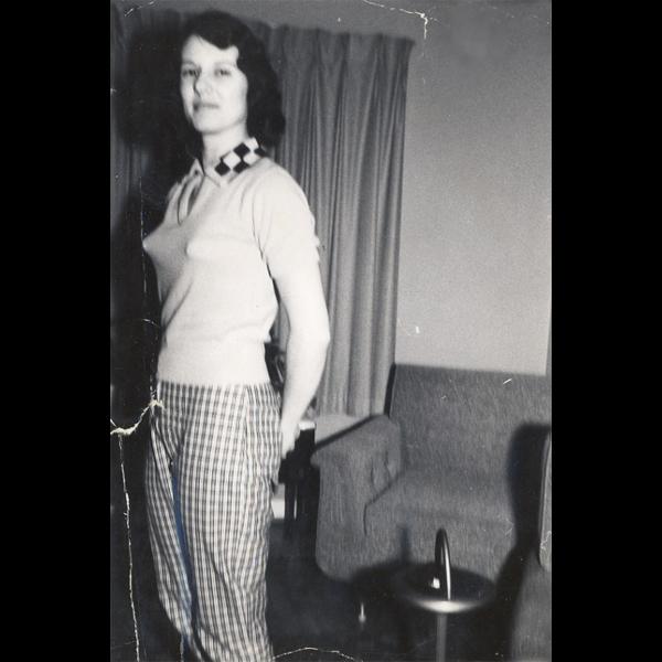 Test shot of 1964 model runner-up Deborah Fields