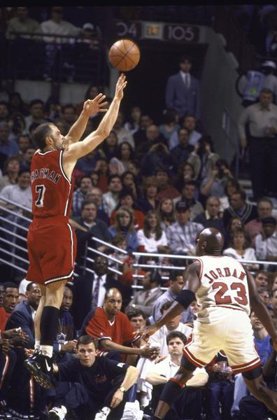 Rex Chapman and Michael Jordan (1996):: Getty Images