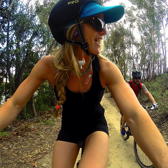 @hannahteter: Perfect day for a bike ride!:) @realjohnnybananas @gopro
