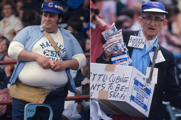 Vendors hard at work during a 1975 game against the Astros. (Walter Iooss. Jr/SI)