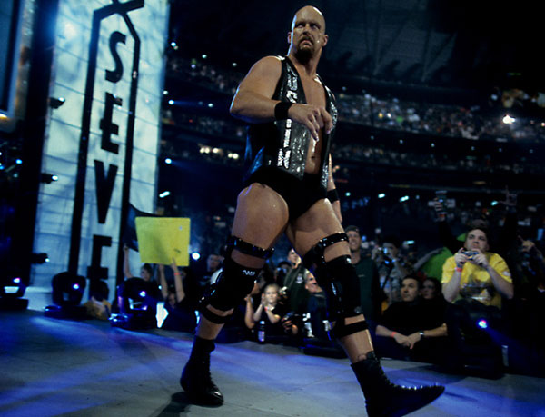 """Stone Cold"" Steve Austin, WrestleMania 17 :: Courtesy of WWE"