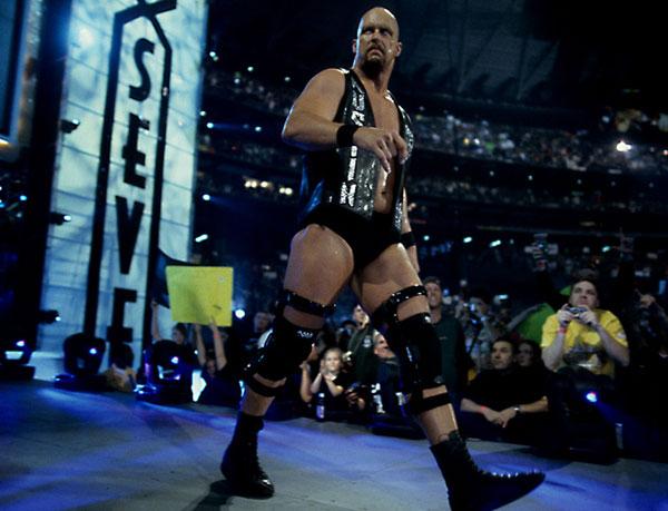 """Stone Cold"" Steve Austin, WrestleMania 17 :: Courtesy of WWE"