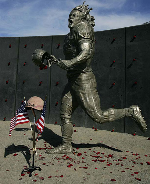 Tillman received posthumous Silver Star and Purple Heart medals for his service. (Getty Images)