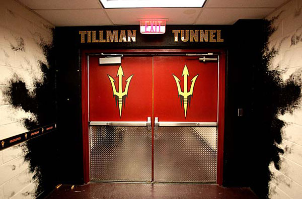 The Tillman Tunnel at Sun Devil Stadium. (AP)