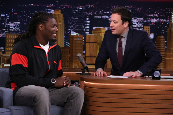 Jadeveon Clowney and Jimmy Fallon :: Getty Images