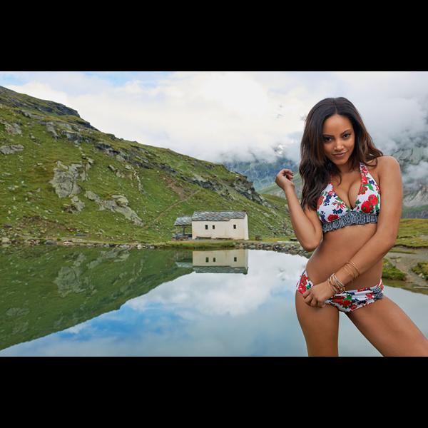 Ariel Meredith in Switzerland, Swimsuit 2014 :: Yu Tsai/SI