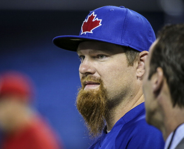 On May 10, Adam Lind sported the rarely-seen LSG (long scraggly goatee). Combining all the inconvenience of shaving every day with all the visual appeal of an old prospector, this look is sure to win him some big points with absolutely no one.