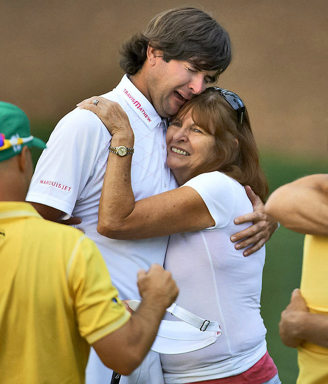 Bubba Watson and his mother :: John Biever/SI