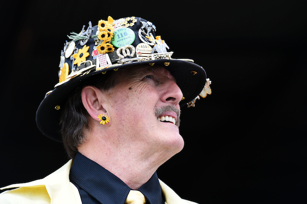 Cool hat. (Getty Images)