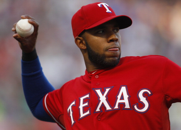 ...and it's not any better! In this shot from May 10, you can see that Andrus is trying to take a page from David Ortiz's perfectly maintained book. Unfortunately, the angular beard only serves to highlight Andrus' double chin.