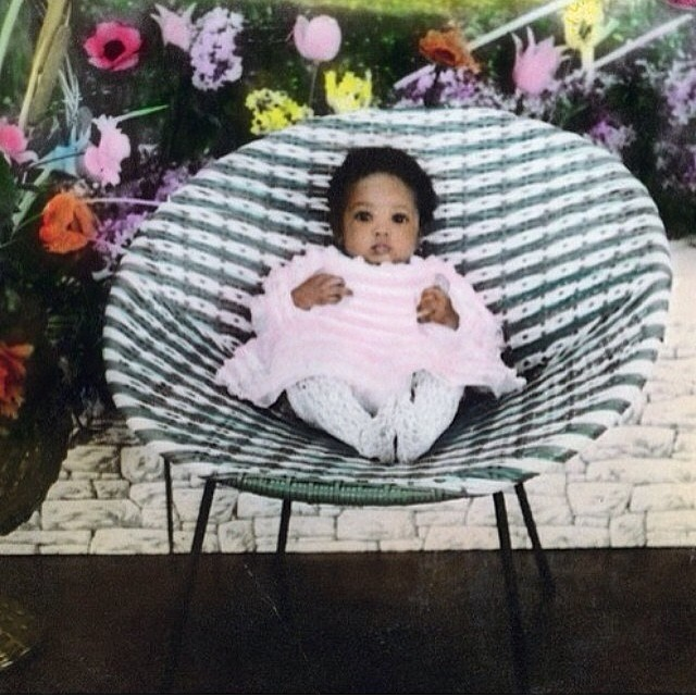Adorable baby @naomicampbell is adorable.