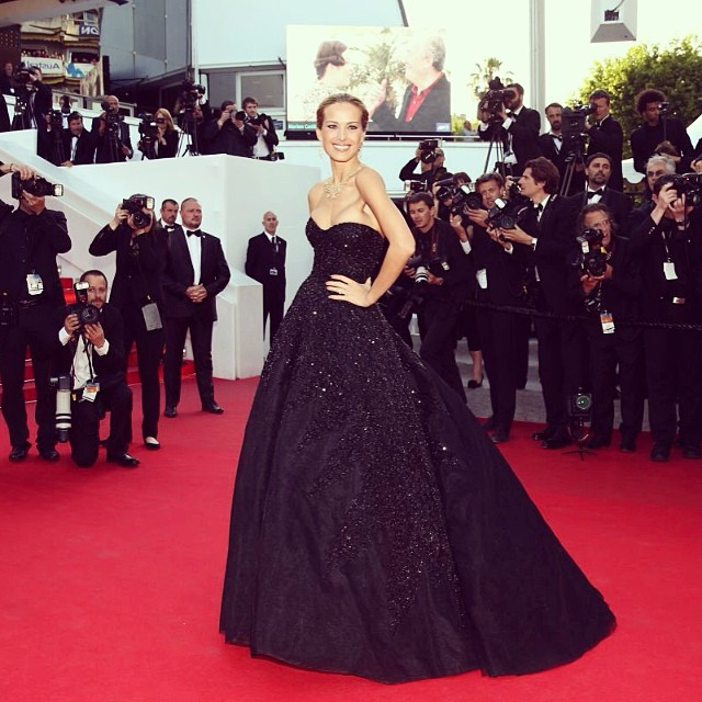 @onemanagement beams with pride over Petra Nemcova's unforgettable look at a Cannes event