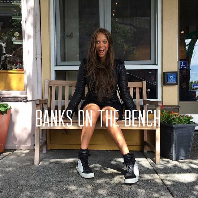 @tyrabanks cheeses it up in Sausalito