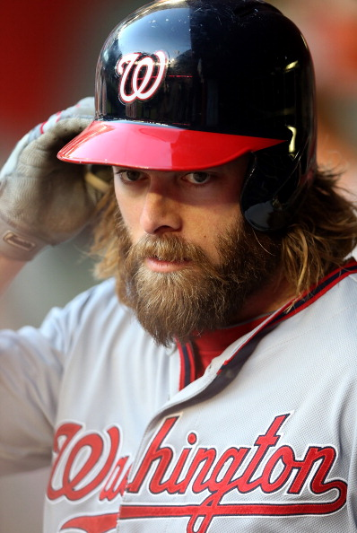 This photo of Jayson Werth was taken on May 13, presumably after Werth had finished the promotional tour for Son of God.