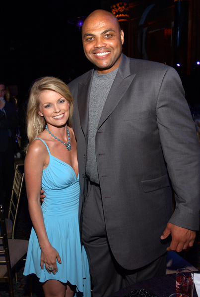 Kelly Packard and Charles Barkley:: Getty Images