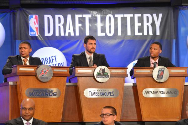 Bradley Beal, Kevin Love and Damian Lillard, 2013 :: Jesse D. Garrabrant/NBAE via Getty Images)