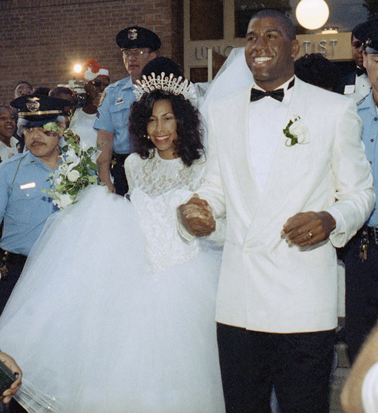 Magic Johnson and Cookie Kelly :: AP