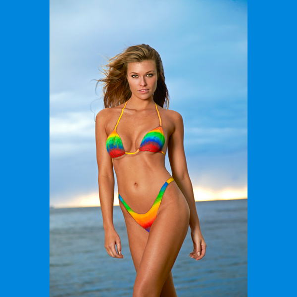 Samantha Hoopes in St. Lucia, Swimsuit 2014 :: Walter Iooss Jr./SI