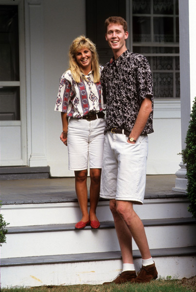 Shawn Bradley and Annette Everston, 1993 :: Damian Strohmeyer/SI