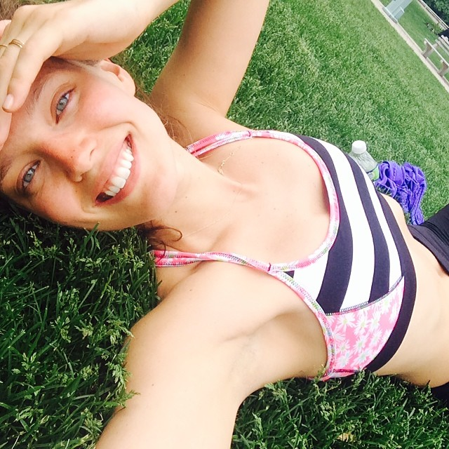 @emilydidonato1: West side highway run in the sun emoji️emoji️ sports bra by @juicycouture