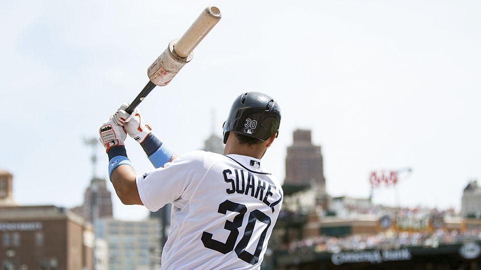 Through 11 games this season, Eugenio Suarez is hitting .333 with three home runs and six RBI.