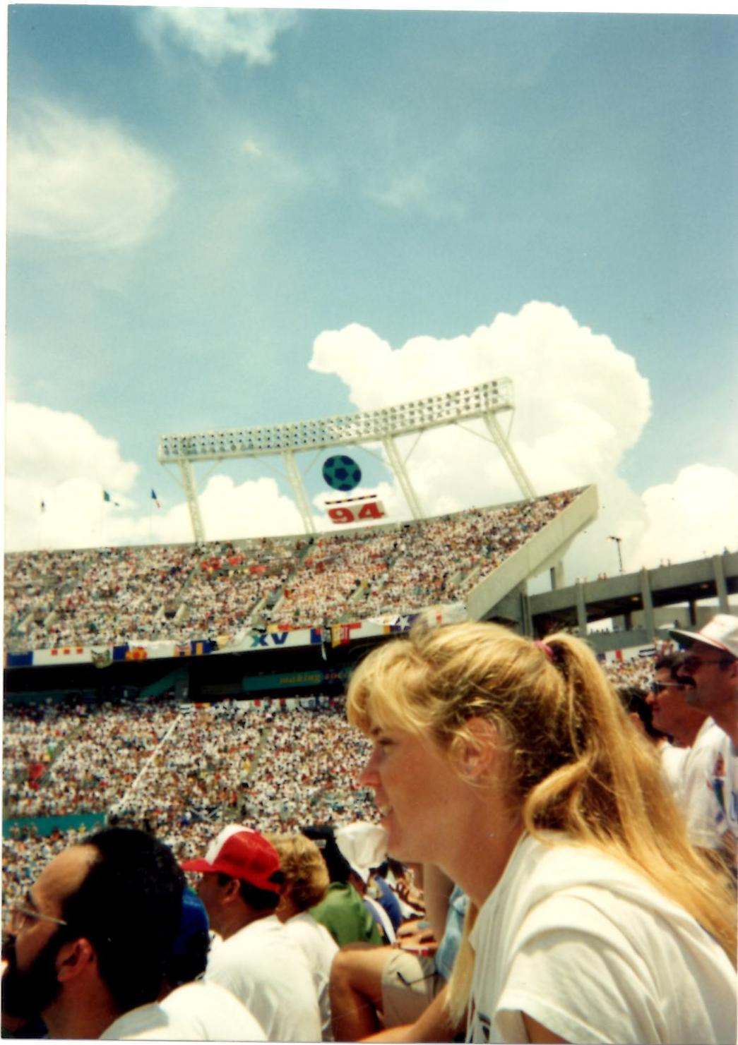 Nancy Pierce at the World Cup in Orlando in 1994.