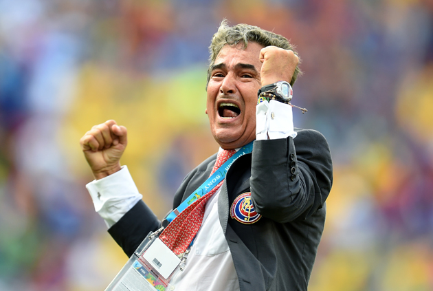 The expression on Costa Rica manager Jorge Luis Pinto's face says it all. Los Ticos are headed to the World Cup knockout stage, out of one of the competition's toughest groups.