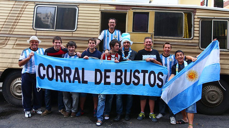 Argentina fans traveled for three days to the country of their archrival Brazil to watch Lionel Messi and La Albiceleste take on Iran in Belo Horizonte.
