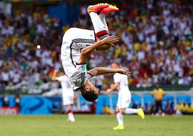 Miroslav Klose is head over heels after his equalizer -- which not only tied Germany with Ghana but brought himself equal with Ronaldo for most World Cup goals ever -- salvaged a valuable Group G point.