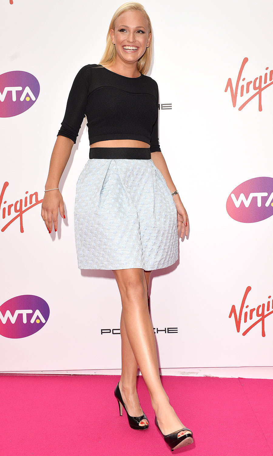 Donna Vekic: The tough part about going bare midriff: How do you stay warm?