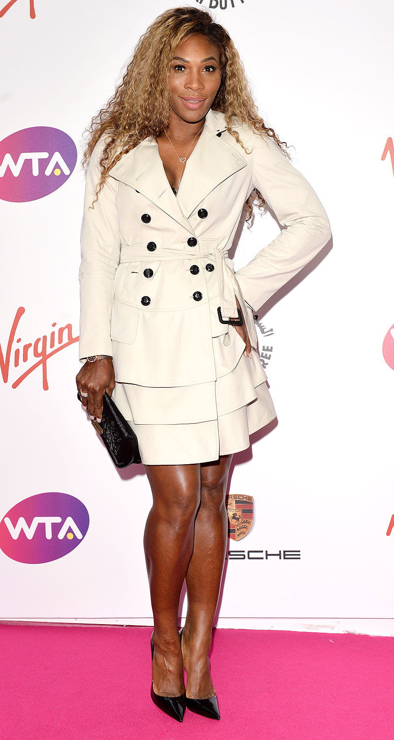 Serena Williams: She does love her Burberry trenchcoats.