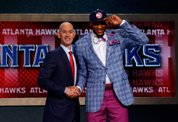 Adreian Payne was selected by the Hawks with the No. 15 pick.