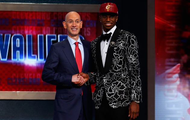 Andrew Wiggins (right) was the No. 1 pick in the 2014 NBA draft.